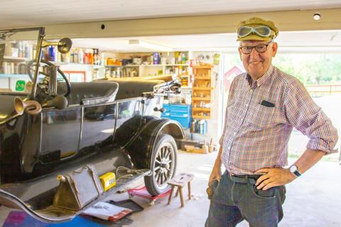 En T-ford från 1923 är en av rariteterna.