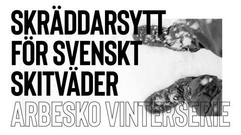 Arbesko vinterserie – skräddarsydd för svenskt skitväder