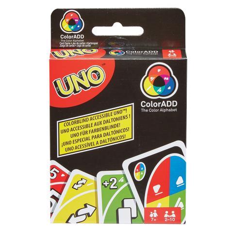 UNO® führt das weltweit erste Kartenspiel für Farbenblinde ein