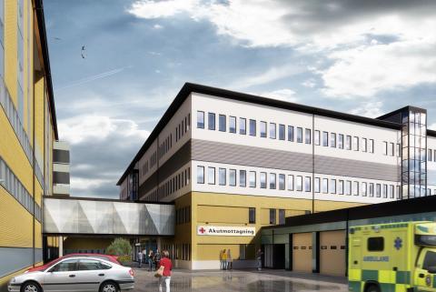 Schneider Electric levererar system för styrning och flexibla lokaler för trygg och säker vård på Hudiksvalls sjukhus