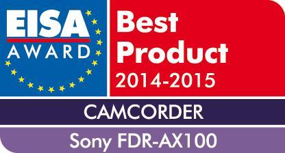 EISA Award 2014_FDR-AX100E von Sony