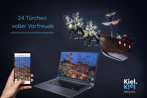 Online-Adventskalender mit Kieler Weihnachtsdorf und Wichtel Kilian