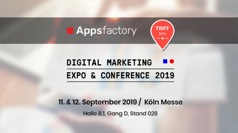 DMEXCO 2019: Appsfactory mit Live Präsentationen zu Mobile Design Trends und Nachrichten der Zukunft