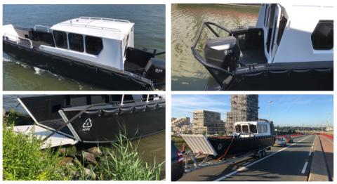 Tideman Boats LC 1000 OB equipped with OXE 200 V3 delivered to Van Oord