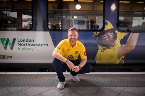 England cricket legend Ian Bell unveils Edgbaston rail partnership