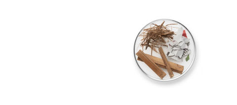 Gefertigt aus Bambus, Zuckerrohr und recyceltem Papier