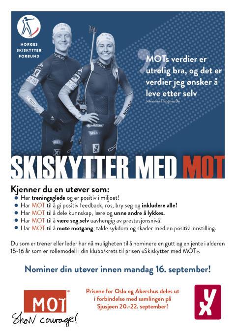 Skiskytter med MOT til Sjusjøen 20.-22.september