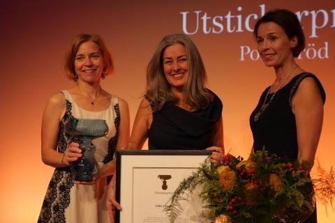 Karin Bodin , Polly HIggins och Anna Borgeryd, Utstickarpriset