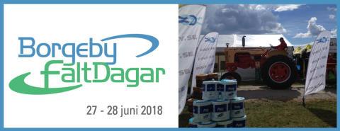 Bild med länk till Evenemangssida Borgeby fältdagar 2018 med Poly-Produkter