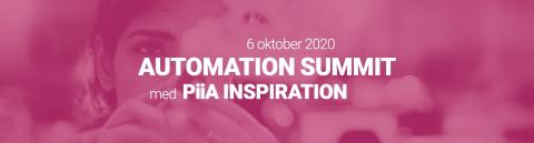 Pressinbjudan: Automation Summit med PiiA Inspiration – digital konferens den 6 oktober