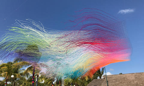 Colorful yarn explosions by HOTTEA to No Limit Street Art