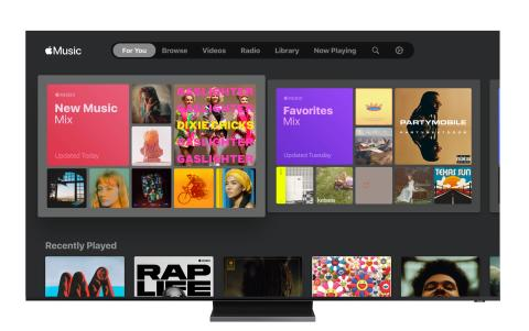 Samsung Smart TV Apple Music Recommended for You_4.23.20
