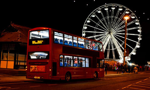 Buses for Sunderland Illuminations 2018