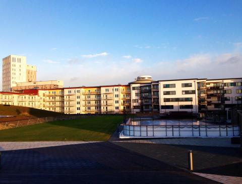 Isbana på Emprias takpark