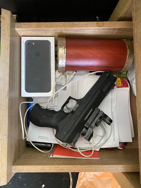 Gun seized in situ
