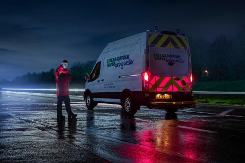 Ford utvikler egne lyspanel for å gjøre veiarbeid tryggere