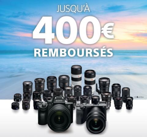 Sony annonce l'été !  Jusqu'à 400€ remboursés sur une sélection d'appareils photo  et d'objectifs pour redécouvrir  en image la beauté de notre monde