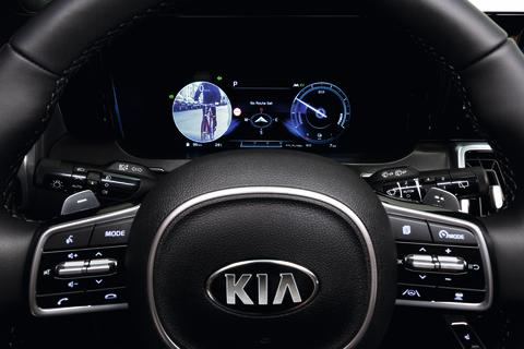 Den nye KIA Sorento eliminerer den blinde vinkel med nyt digitalt display