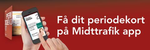 Nu kan Midttrafiks kunder få deres periodekort på Midttrafik app