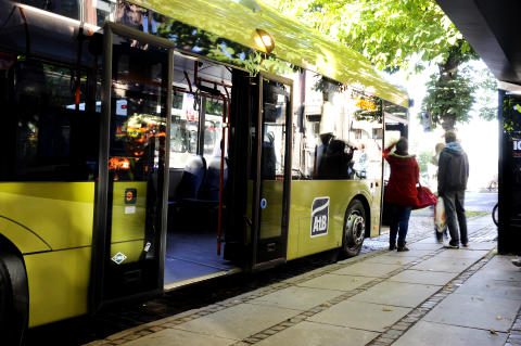 AtB buss ved holdeplass