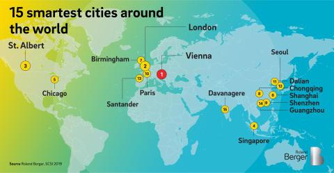 15 smartest cities around the world