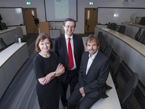 L-R Lucy Winskell OBE, Simon Henig CBE and Jeremy Middleton CBE.