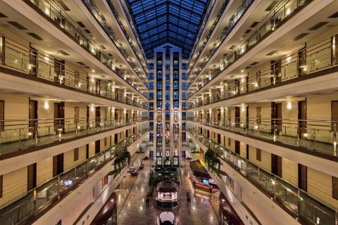 Lobby Maritim Hotel Magdeburg, Germany