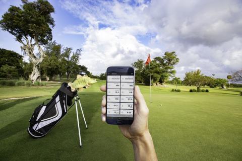 OnDeck Lifestyle Golf Kontrolle der Sensoren