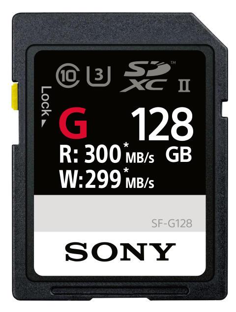 Sony lanceert 's werelds snelste SD-kaart: de SF-G