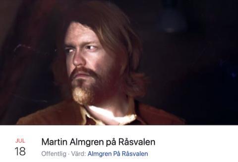 Martin Almgren bjuder på lite musik - på Råsvalen