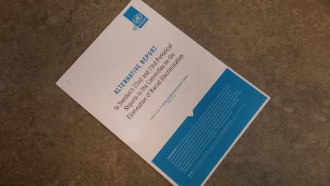 Rapport till FN:s rasdiskrimineringskommitté