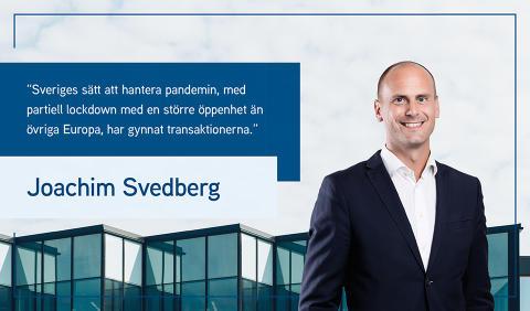 Joachim Svedberg sammanfattar transaktionsåret 2020