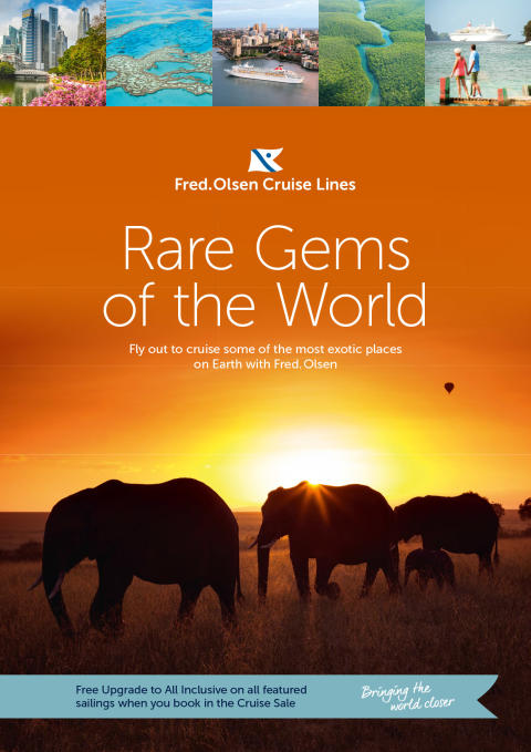 Discover 'Rare Gems of the World' with Fred. Olsen Cruise Lines in 2017/18