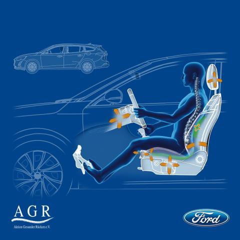 Sedadla v novém Fordu Focus přinášejí úlevu od bolesti zad. Chválí je i odborníci