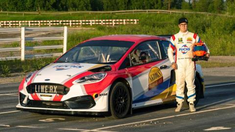 FUCHS Lubricants stolt sponsor av Linus Westman, Rally X