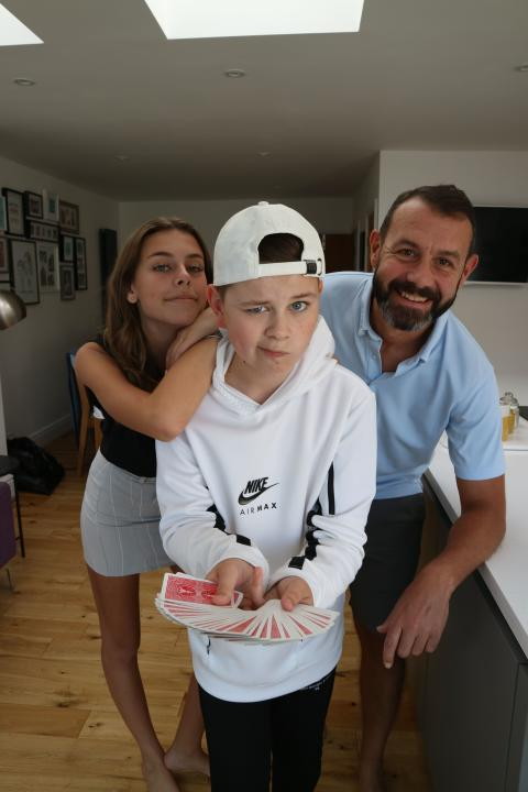 Liam uses magic talents to support ellenor