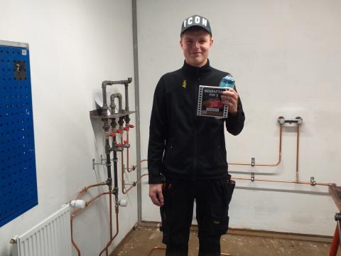 Lucas vandt regionsmesterskabet for VVS- og energispecialister.