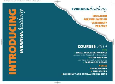 Evidensia Academy kurskatalog hösten 2014