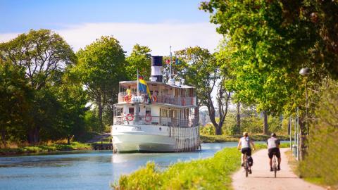 Cykelled utmed Göta kanal