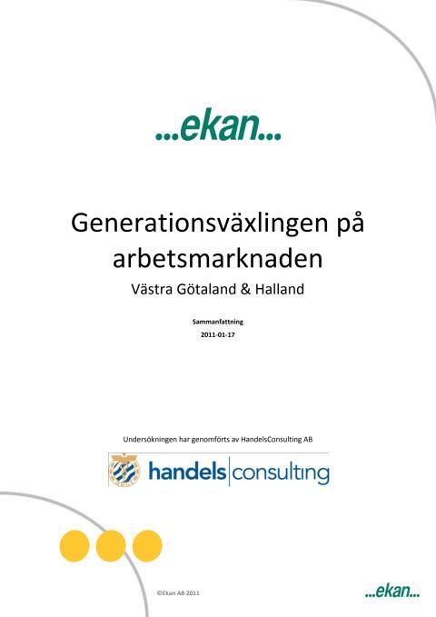 Generationsväxlingen på arbetsmarknaden