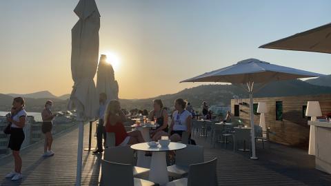 005 Sonnenuntergang auf Dachterrasse allsun Bella Paguera