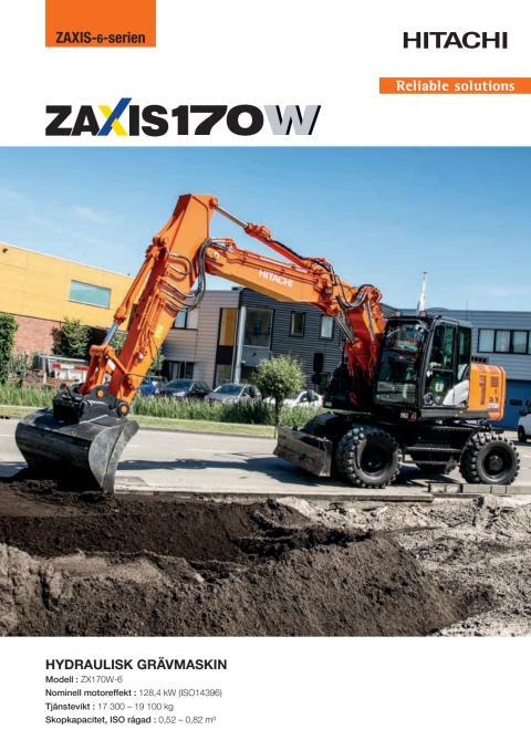 Broschyr Hitachi ZX170W-6 hjulgrävare