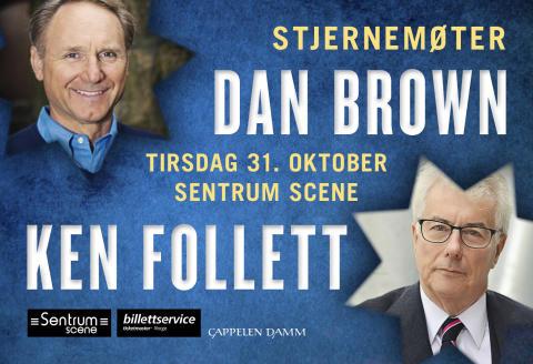 Stjernemøter med Dan Brown og Ken Follett i Oslo