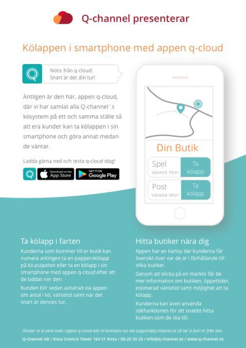 Kölappen i smartphone med appen q-cloud