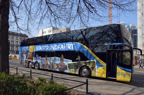 Doppeldeckerbus der Stadtrundfahrt Leipzig GmbH