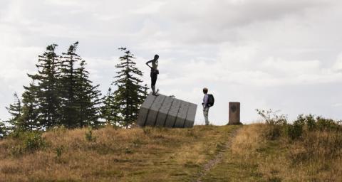 Udsigstpost til Svanninge Bjerge. Andenplads.