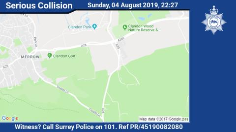 Officers concerned for welfare of cyclist involved in collision