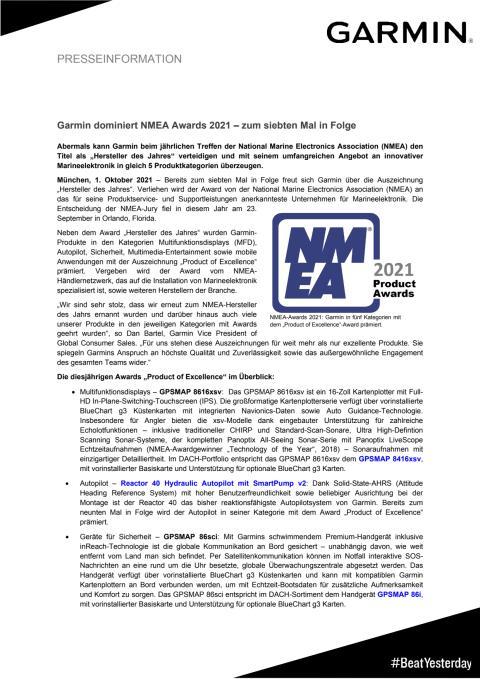 PM Garmin NMEA Awards 2021