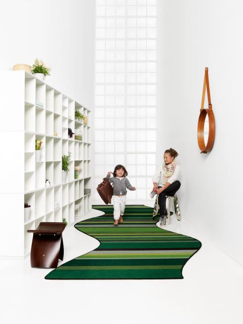 Årets golvtrender - Create!, skräddarsydd designmatta som kan täcka hela golvet. Från egetæpper.