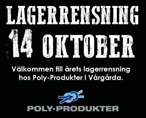 Bild med länk till Evenemangssida Årets lagerrensning 14 oktober